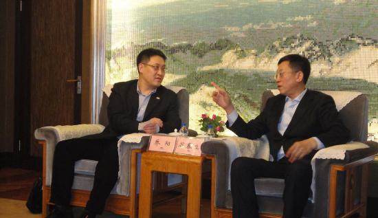 绿碳公司总经理乔阳拜会吉林省副省长谷春立